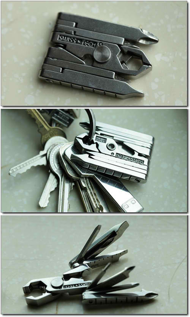 Swiss Tech Mmcsss Micro Max 19 In 1 Keychain Multitool