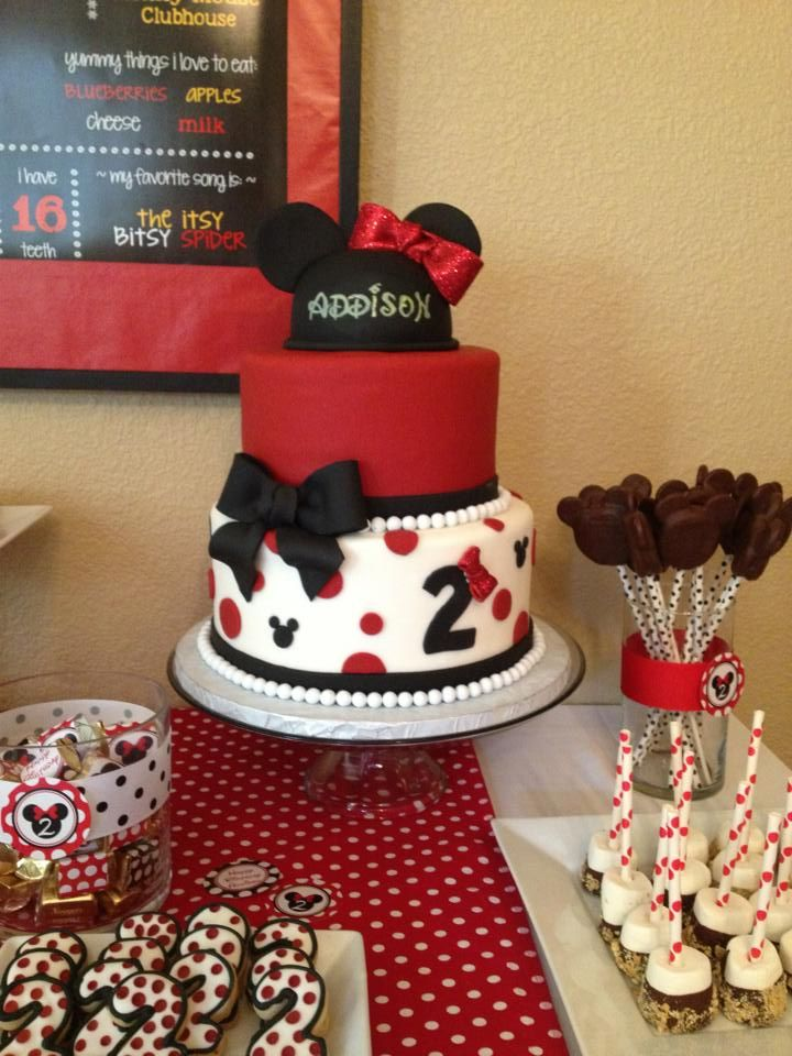 Modern Minnie Mouse Birthday Cake By Sweetologie Com With Images