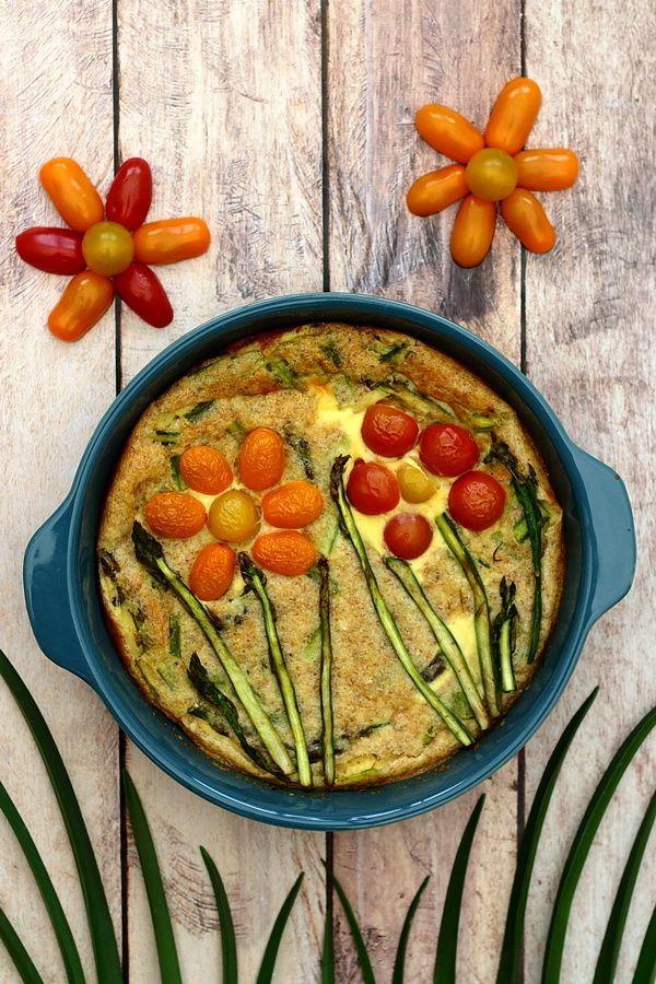 Quiche aux asperges vertes (sans pâte) | Alimentation ...