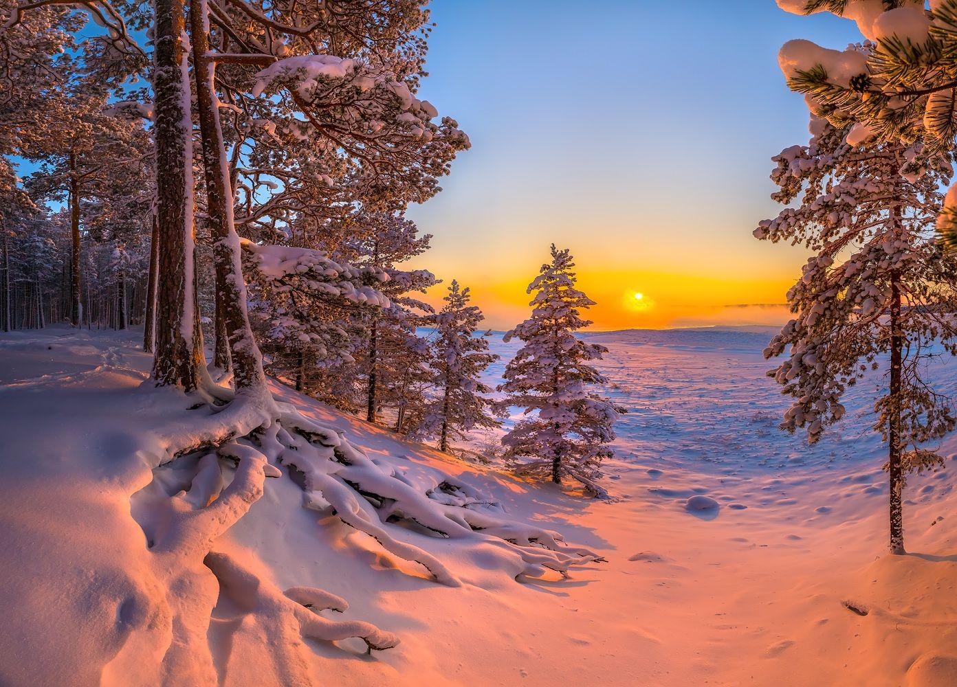 Открытка, картинки карелия зимой