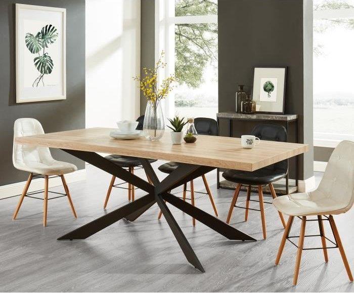 Charlie Table A Manger De 8 A 10 Personnes Style Industriel Pas