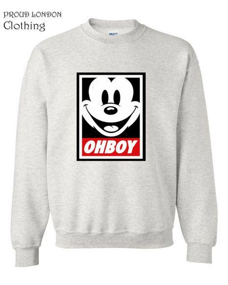 ac1d4f35 mickey mouse sweater sweatshirt ohboy mickey club disobey obey girls boy  london boys crewneck crewneck sweater crewnecks winter sweater