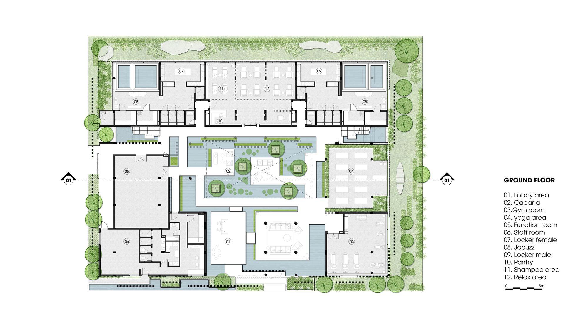 Gallery Of Naman Spa Mia Design Studio 18 Green