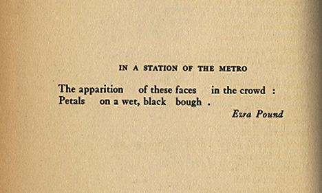 ezra pound in a station of the metro poem