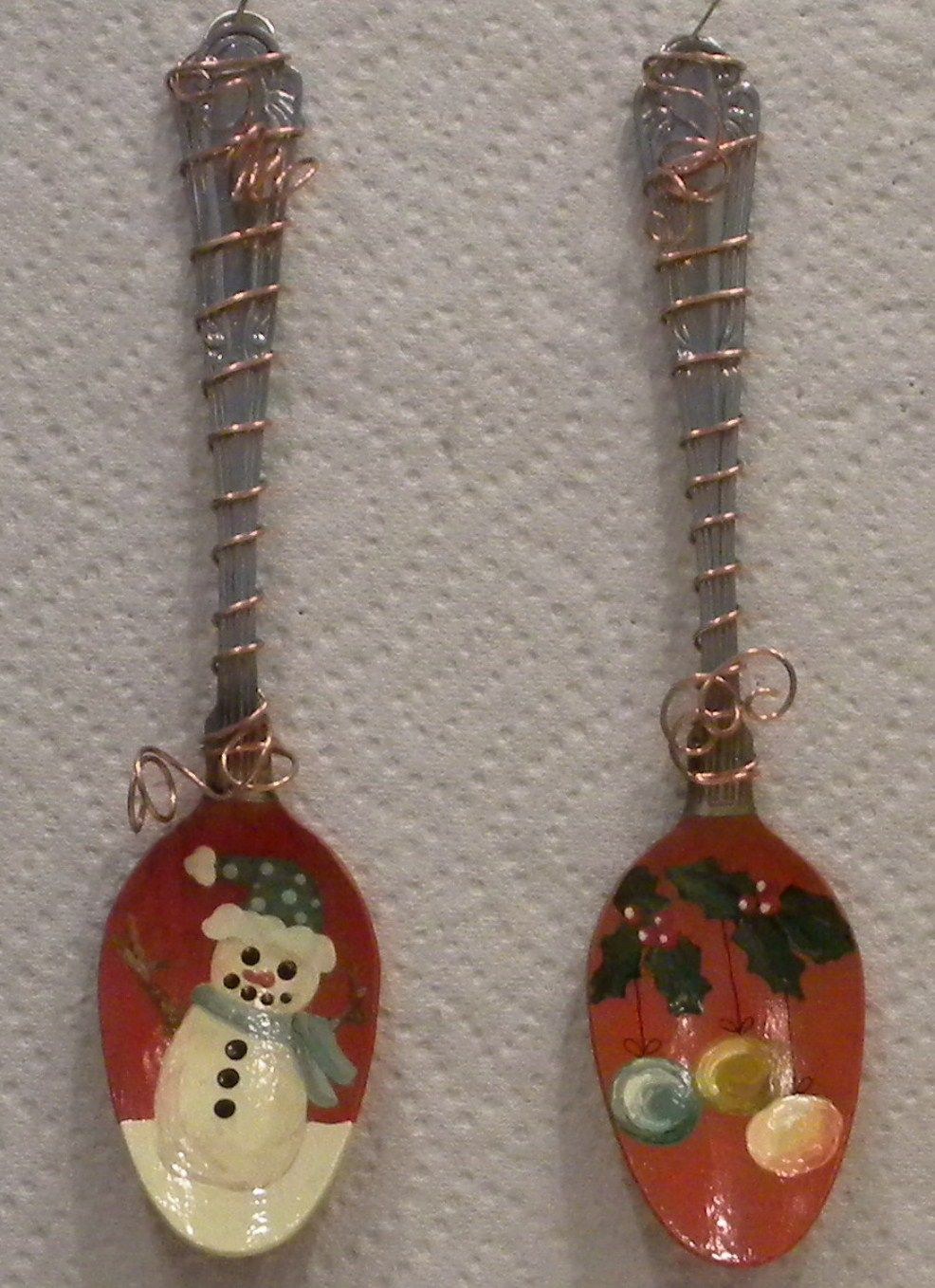 Image detail for -DY101-Ornament+wired+spoons_snowman_ornaments_2010.JPG
