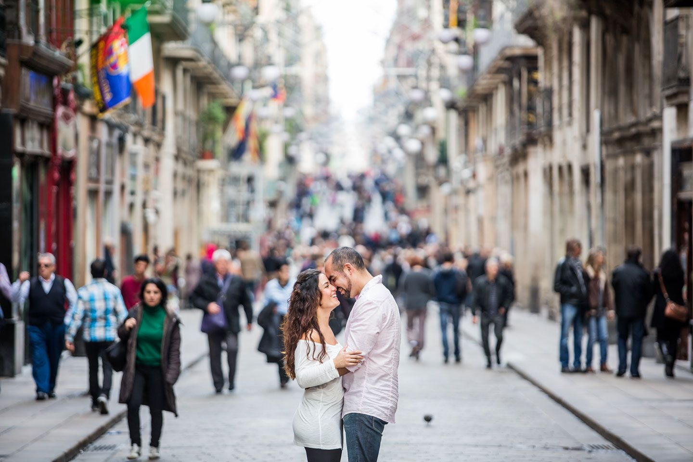 Prewedding shoot in Barcelona, Spain