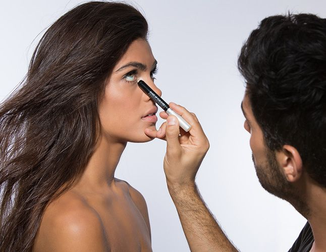 Tip 3: Add A Highlight To Eyes - For a gorgeous luminosity, apply a silvery eye shadow on the inside corners of the eyes on top and bottom. Then, set the look by blending color with a flat eye-shadow brush.