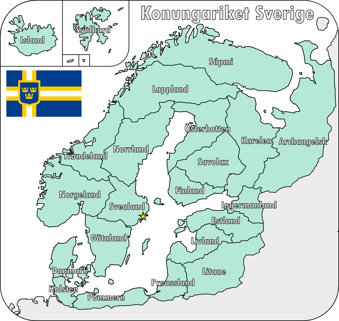 Map Of The Swedish Empire By Martindeviantartcom On - Sweden big map