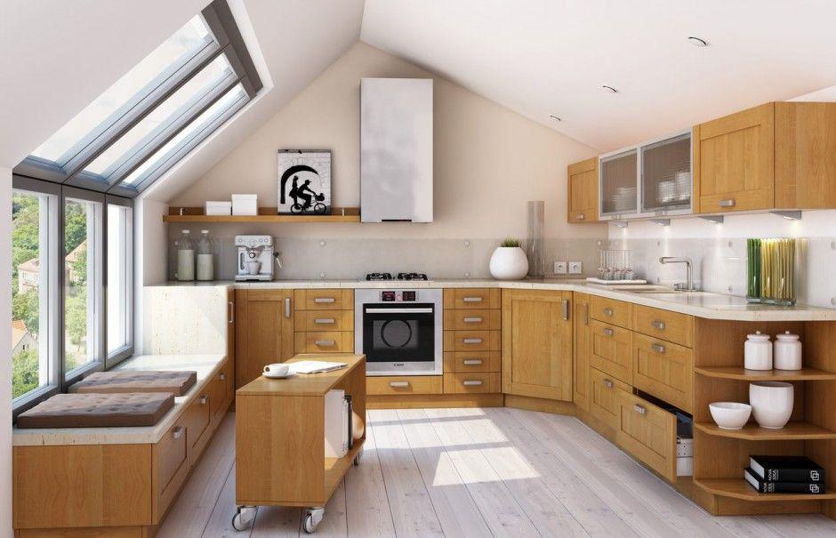 Kuchnia Pod Skosami Zobacz Najciekawsze Aranzacje Poddasza Best Kitchen Designs Kitchen Design Home Interior Design