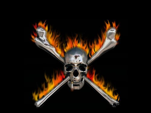 Image detail for -Skull and Crossbones on Fire picture by ...
