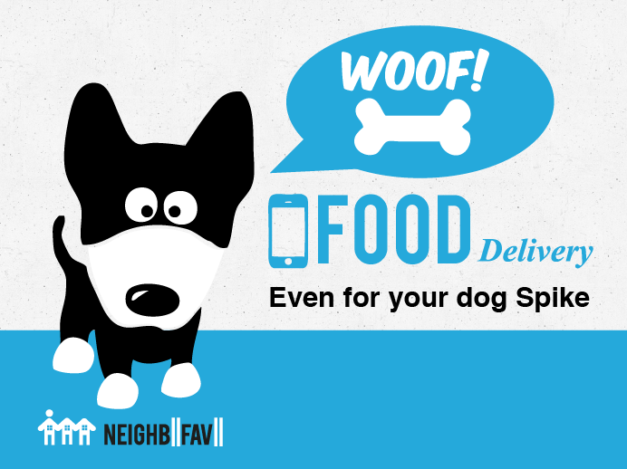 Get food delivered, even for your pup