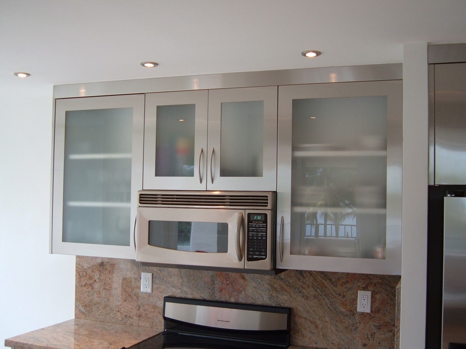 Frosted Glass Kitchen Cabinets Glass Kitchen Cabinet Doors