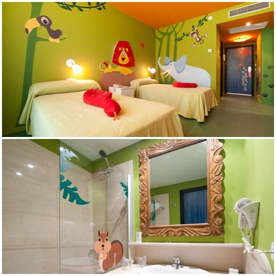 Hotel familiar en huelva con habitaciones tem ticas para - Habitaciones infantiles compartidas ...