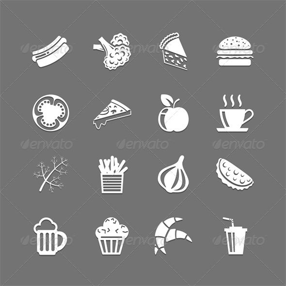 Pin By Netyfeashadn On Graphicriver Templates Food Icons