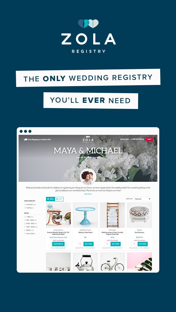 Youre not getting married in the 1950s so why register like you youre not getting married in the so why register like you are meet zola the registry for malvernweather Gallery