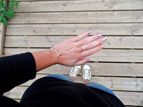 24-7 STYLE in the Simply Sexy Gold Hand Chain | Criscara