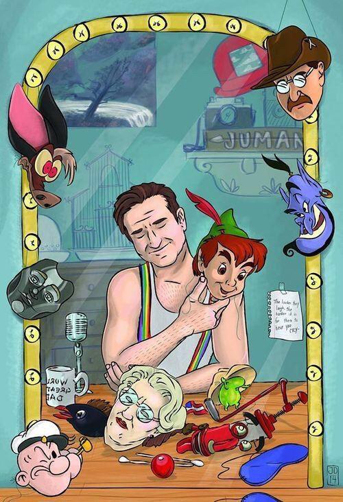Peter Pan Aladdin Jumanji Robin Williams Popeye Mrs