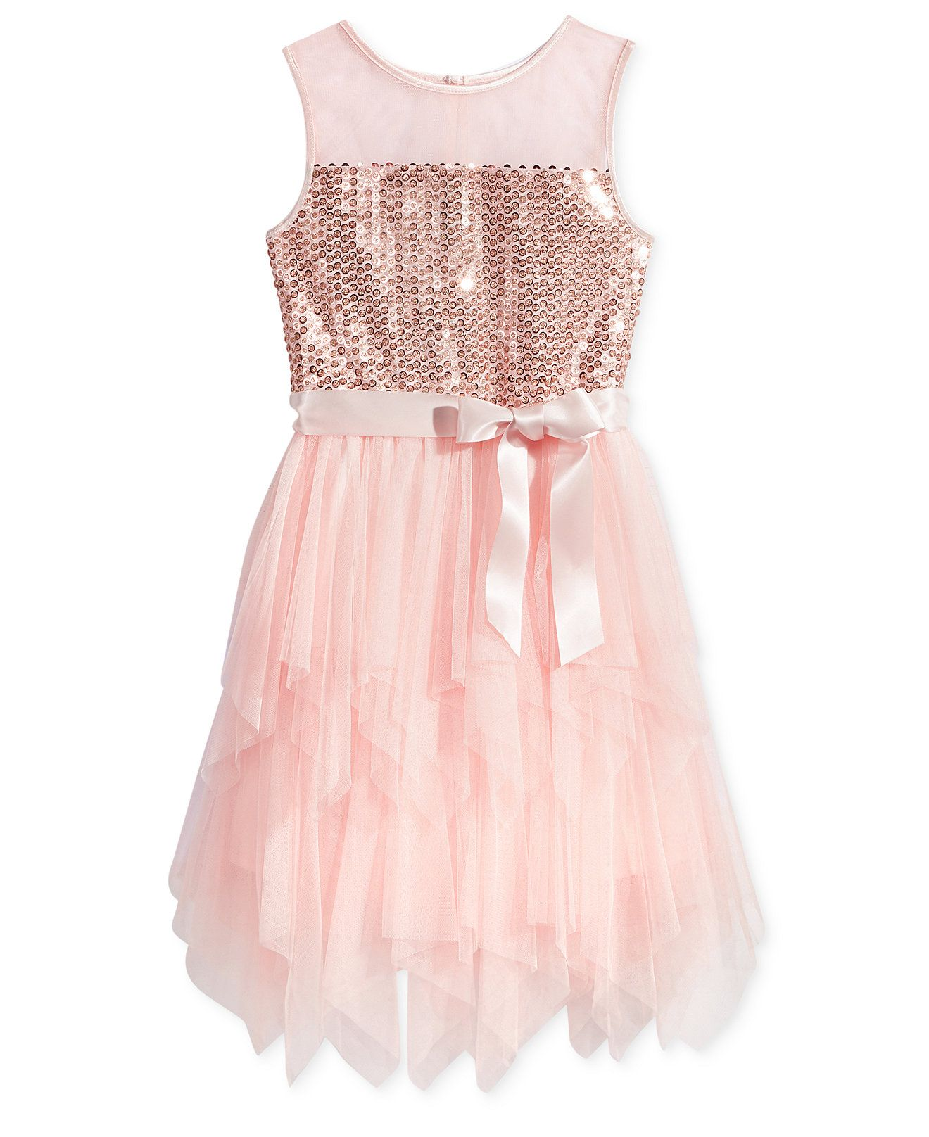 Pink & Violet Sequin Fairy Dress, Big Girls (7-16) - Dresses - Kids ...