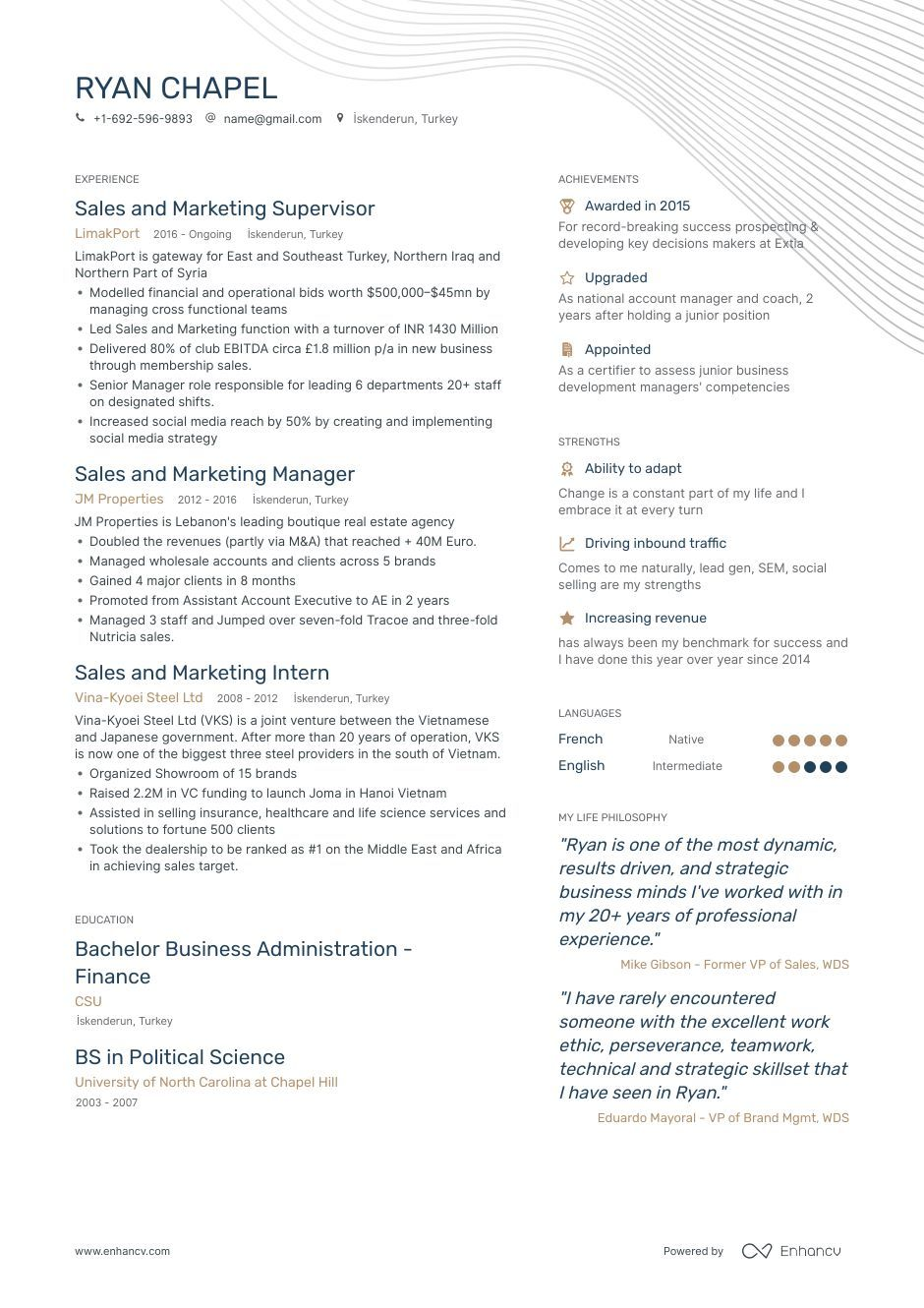 8 Sales And Marketing Resume Samples And Writing Guide Marketing Resume Sales And Marketing Resume Examples