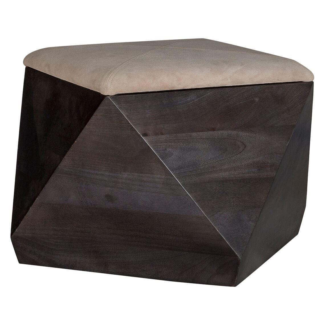 Enjoyable Prism Storage Stool With Leather Black Products In 2019 Inzonedesignstudio Interior Chair Design Inzonedesignstudiocom