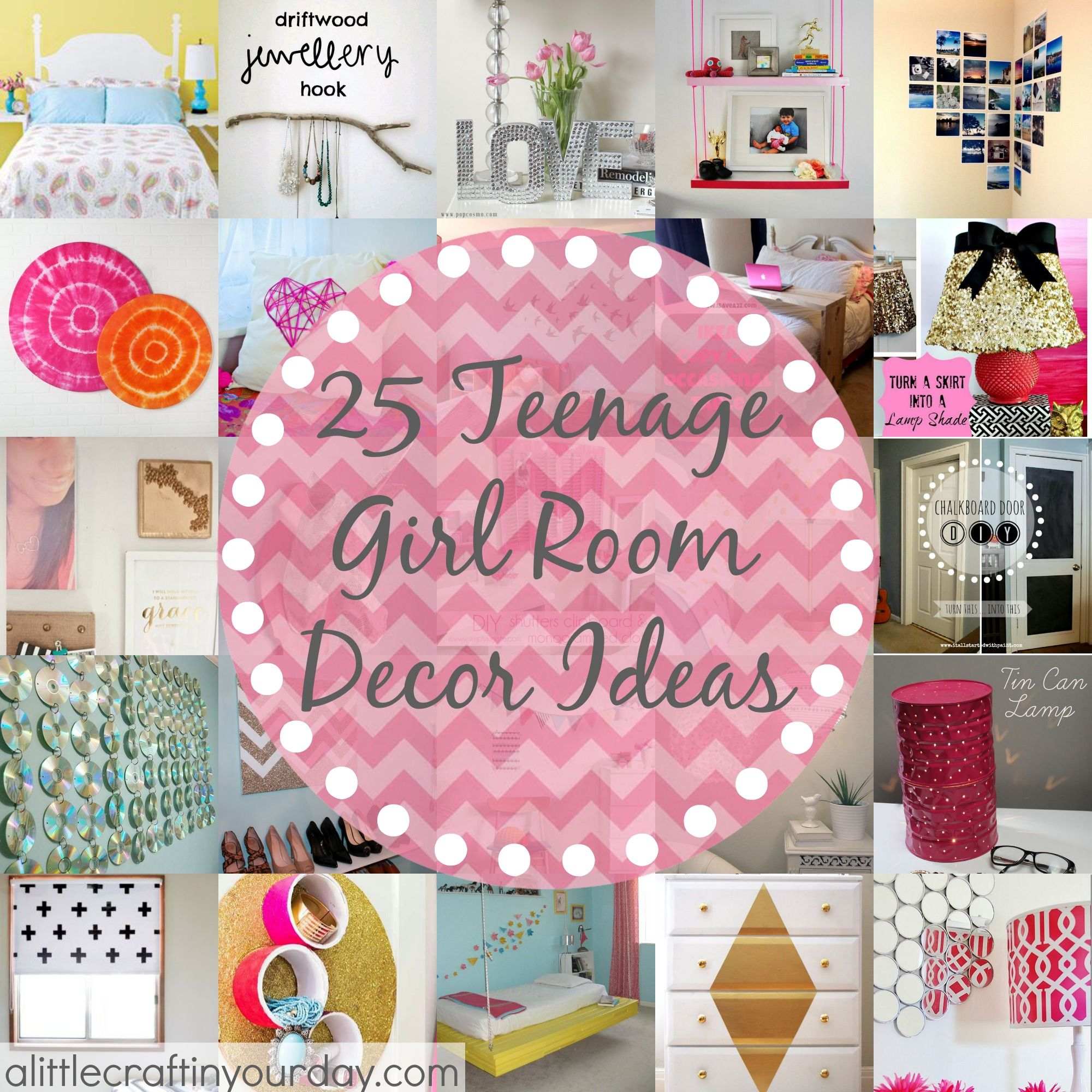 Teen bedroom diy decorating ideas - 25 More Teenage Girl Room Decor Ideas