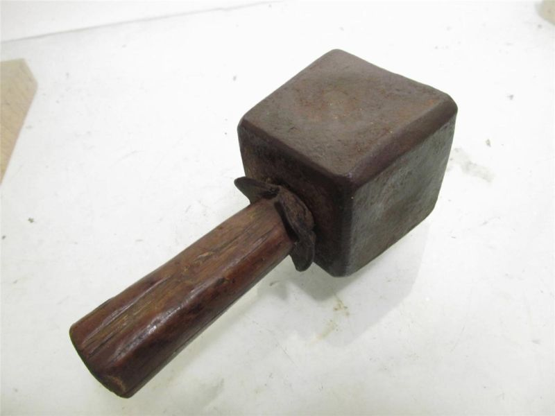 Antique Stone Mason Carving Chisel Tool Iron Mallet Hammer Different Tombstone