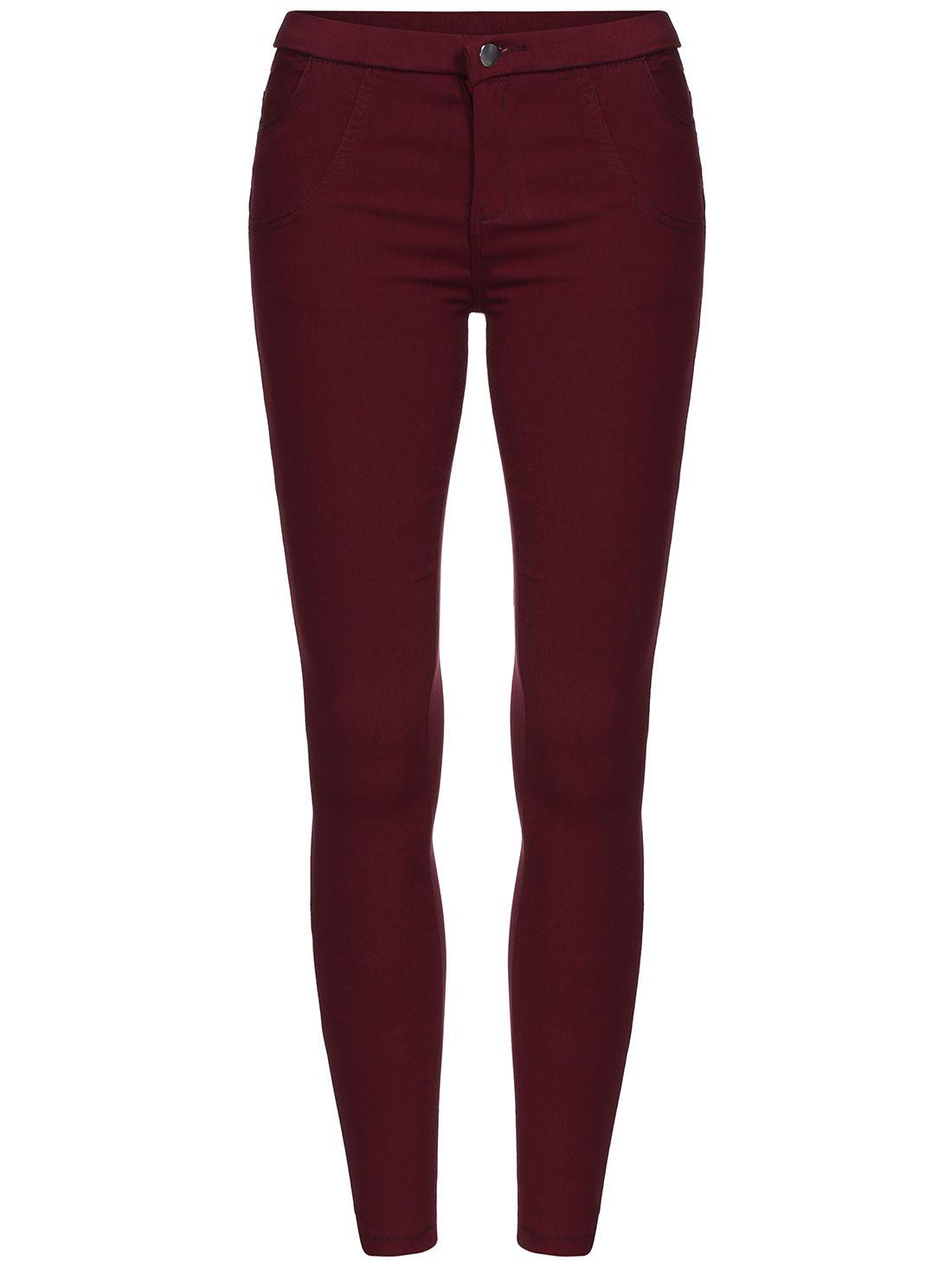 Pantalón skinny elásitco-(Sheinside)