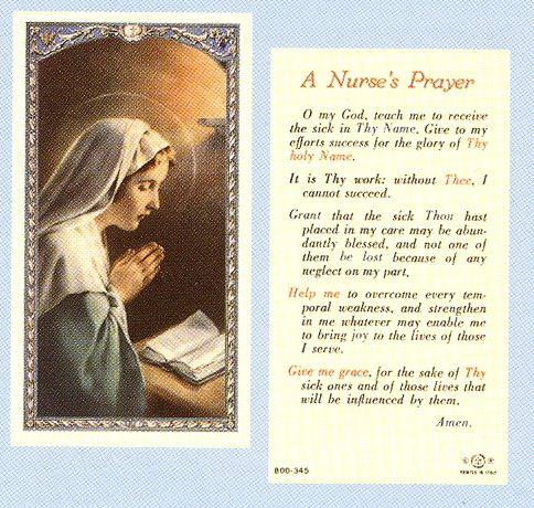 Printable Nurse\u0027s Prayer NURSE\u0027S PRAYER Stuff to Buy