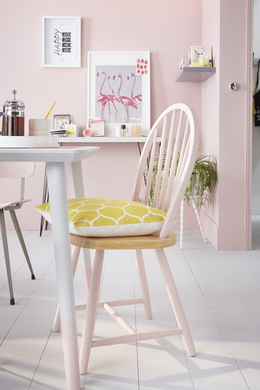 Effet Poudré Pour Cette Chaise En Bois Kitchen Dining