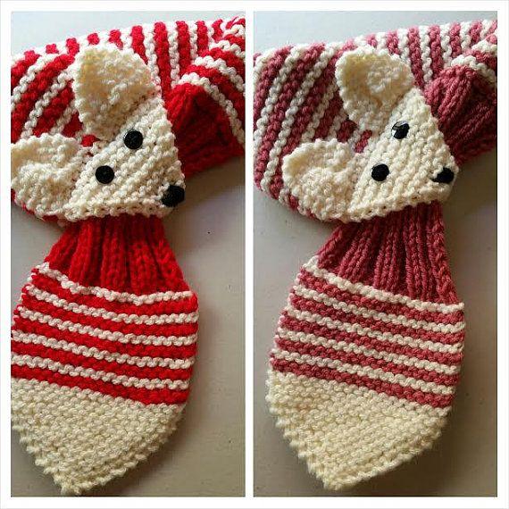 Estiramiento de bebé ajustable Fox raya de la bufanda de la mano ...
