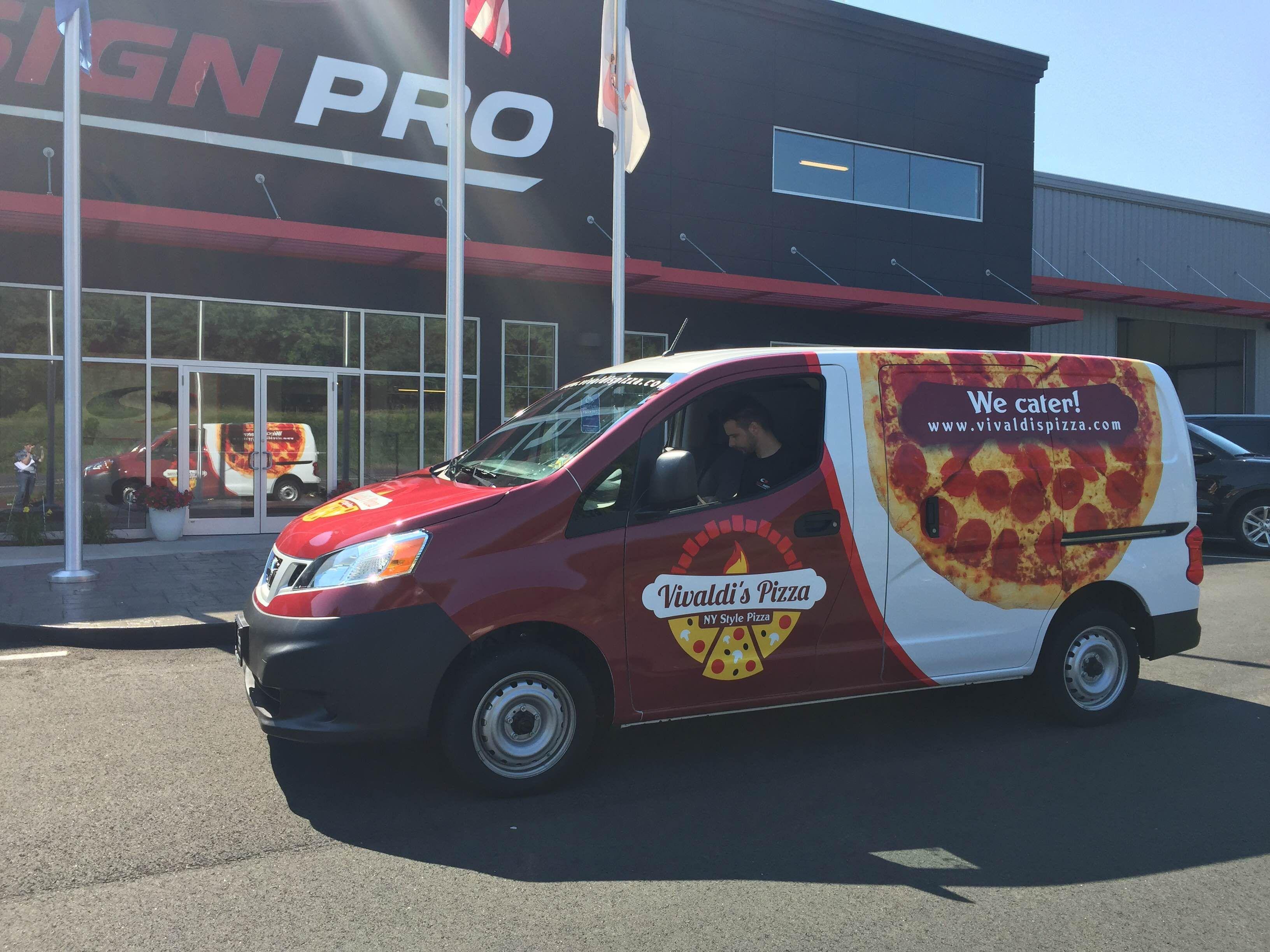 Vivaldi Pizza Vehicle Wrap Done By Sign Pro Inc Car Wrap