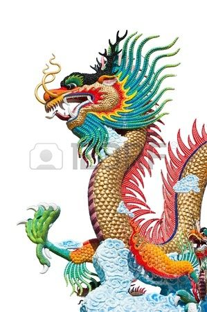 Beautiful dragon on white background