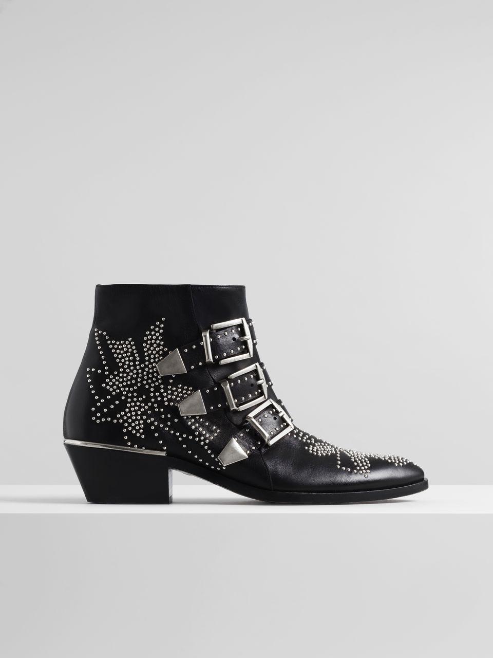 Susanna Studded Ankle Boot In Nappa Sheepskin | Chloé UK