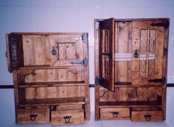 Mueble con madera de palets pallets pinterest muebles muebles con palets y madera - Muebles en palets de madera ...