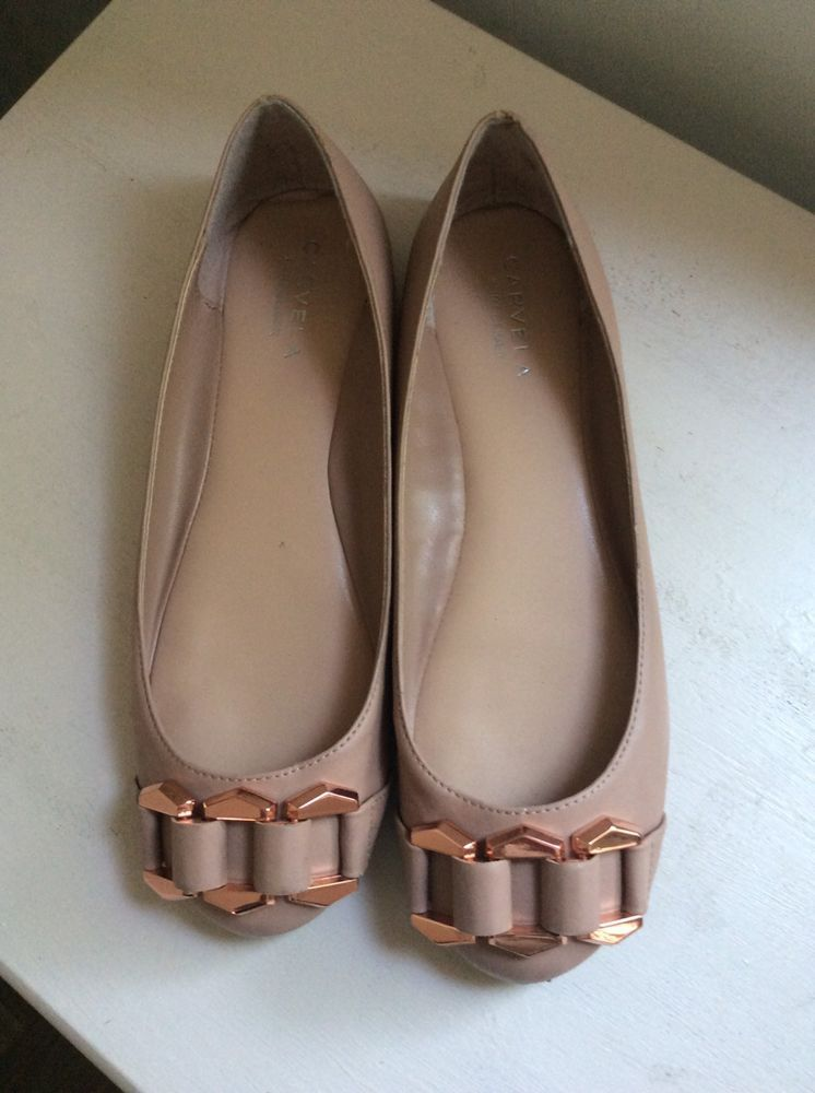 cd174f371ee3 Carvela KG Nude Flat Shoes With Rose Gold Colour Buckle .Size 5 ...