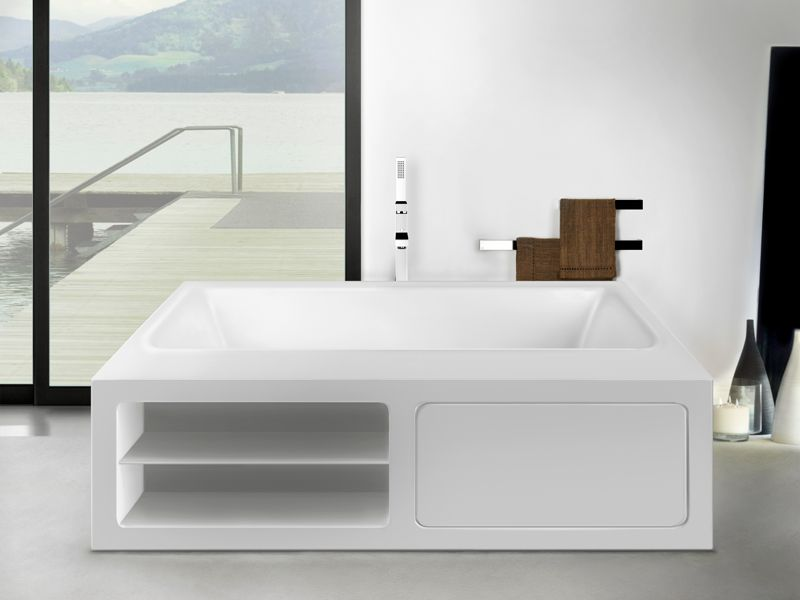 die gessi rettangolo badewanne freistehend in weiss matt. Black Bedroom Furniture Sets. Home Design Ideas