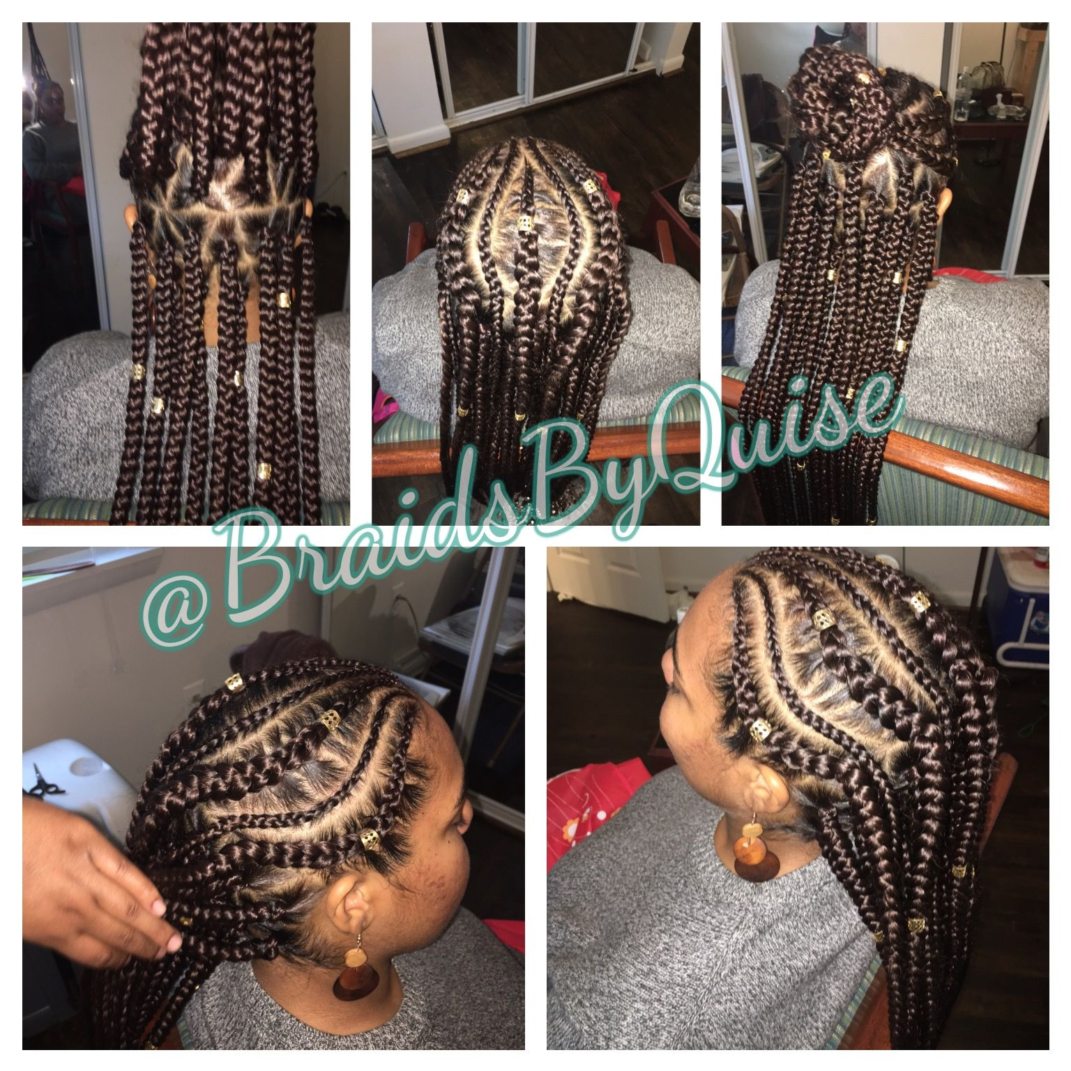 Feed Ins W Jumbo Box Braids For The Homie Braids By