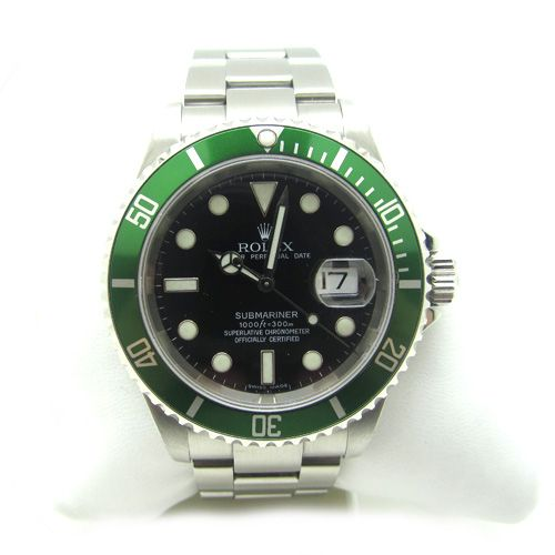 Rolex submariner 50 aniversario con bisel verde.