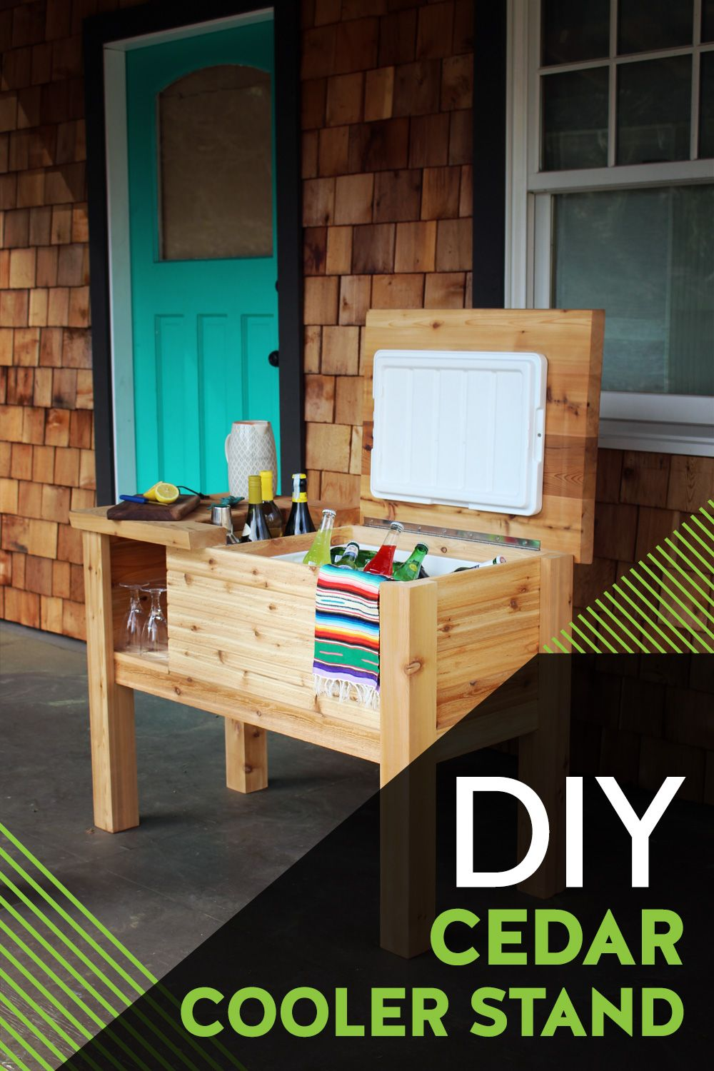 Free Cooler Stand Plans In 2020 Diy Outdoor Decor Outdoor Diy Projects Backyard Diy Projects