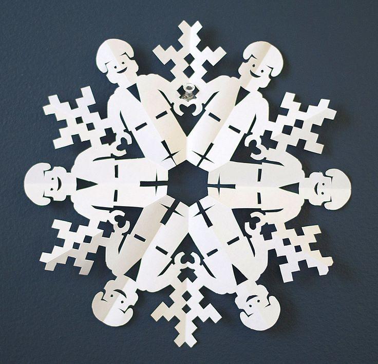 Emmet from the Lego Movie DIY paper snowflake template | DIY Pop ...