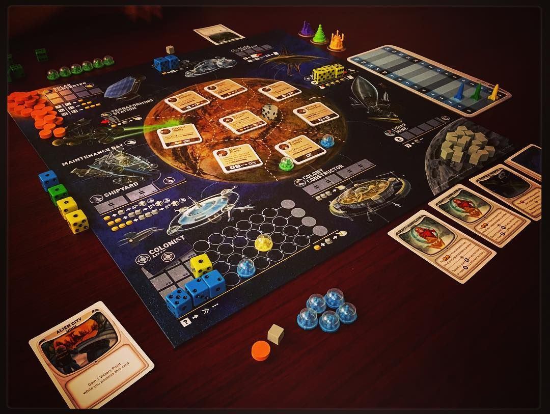 Alien Frontiers is a game of resource management and