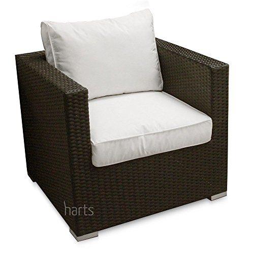 Large Comfortable Corner Rattan sofa Garden Patio Furniture ...