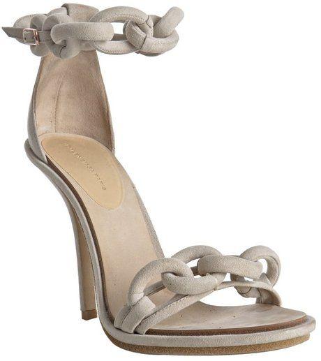 Vanilla Suede Chain Ankle Strap Sandals - Lyst