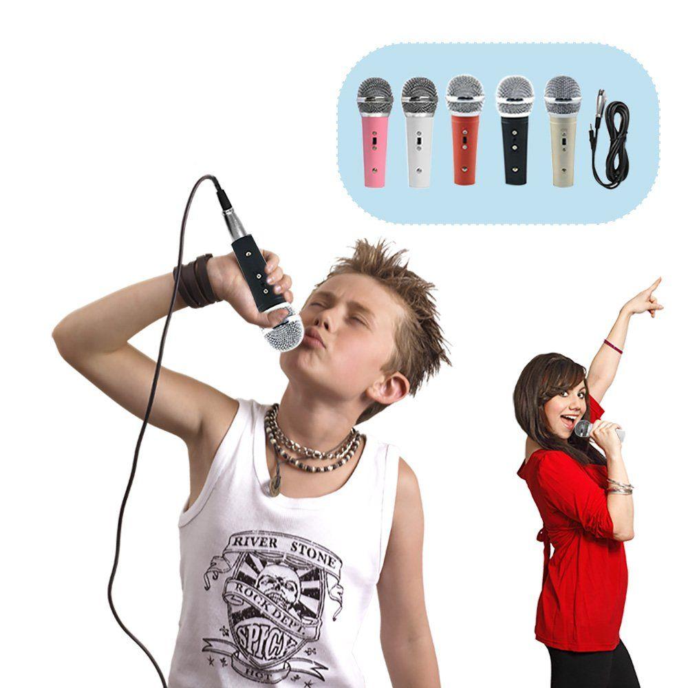 HD-HYNUDAL® KARAOKE Mini Mic Dynamic Microphone for Children Kids Pink $13
