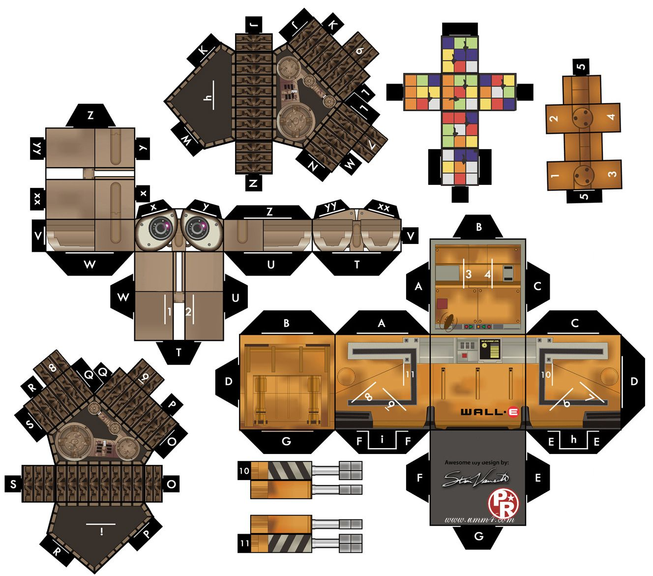 WALLE Papercraft Бумажные модели, Бумажные игрушки, Роботы