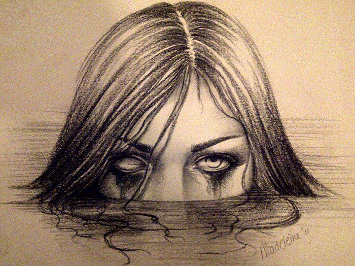 Creepy Drawings | Scary girl by DetailedExpressions on deviantART | Drawing ideas | Pinterest ...