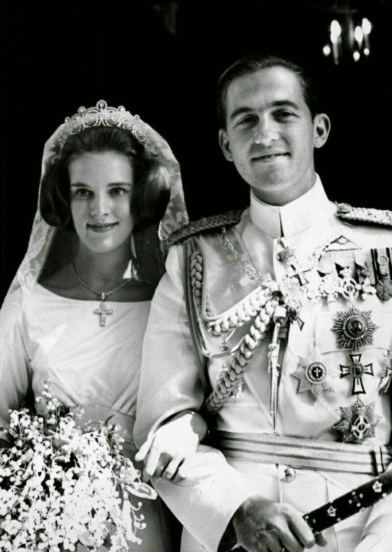 King Constantin Of Greece And Princess Anne Marie Of Denmark Kungligheter Kungliga Brollop Brollop