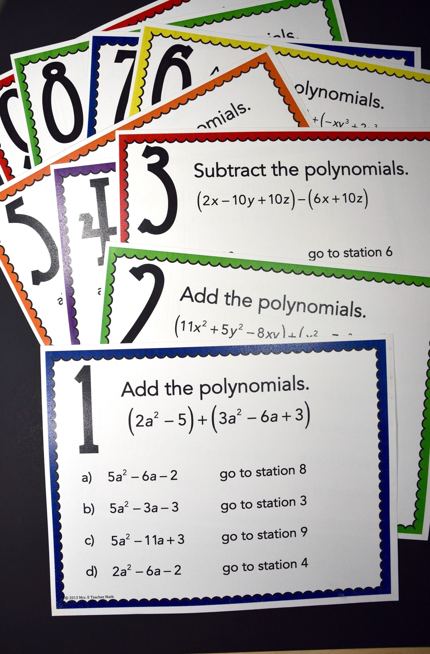 Add and Subtract Polynomials Activity   Digital and Print   Polynomials  activity [ 2766 x 1820 Pixel ]