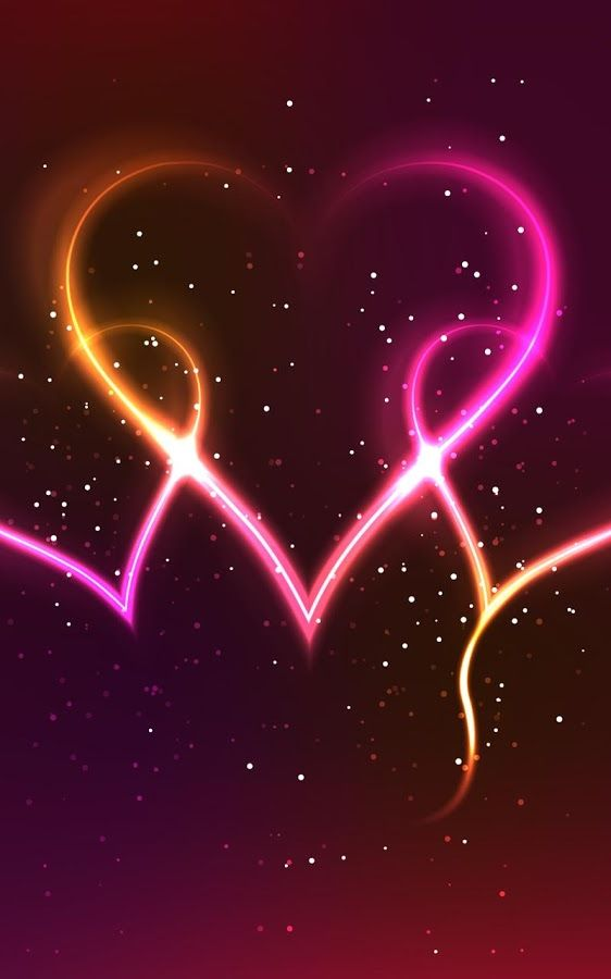 Neon Hearts Live Wallpaper Android Apps On Google Play Images