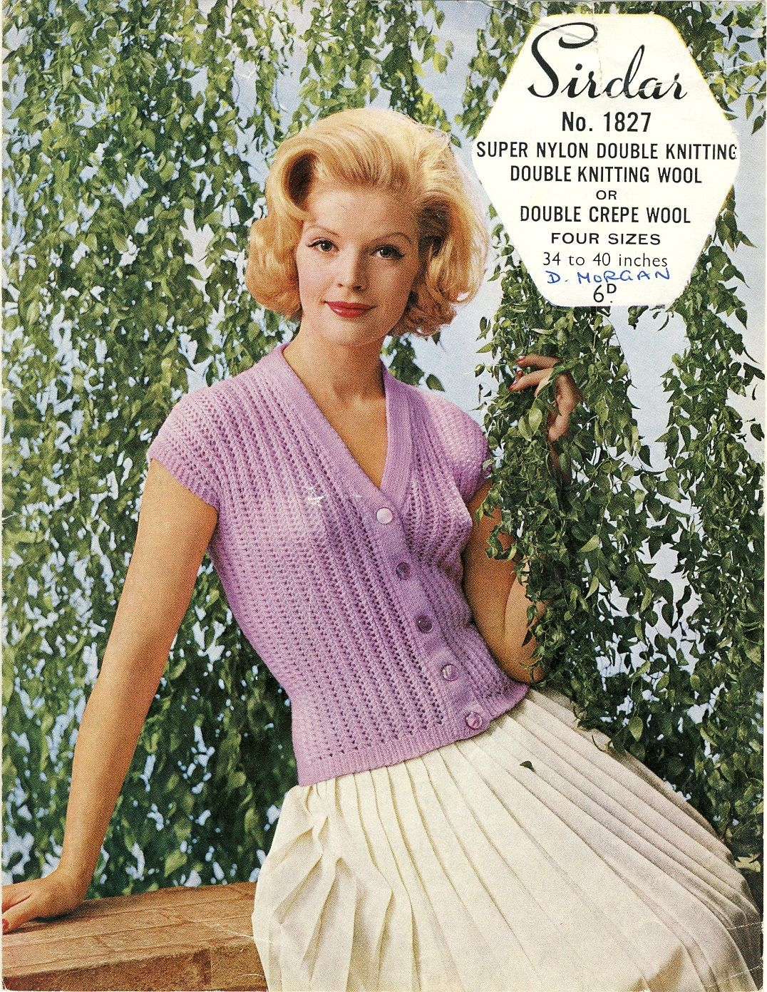 Sold sirdar 1827 vintage knitting pattern 1950s patternalia pdf vintage knitting pattern sirdar ladies button down top by theapplesauceshop bankloansurffo Image collections